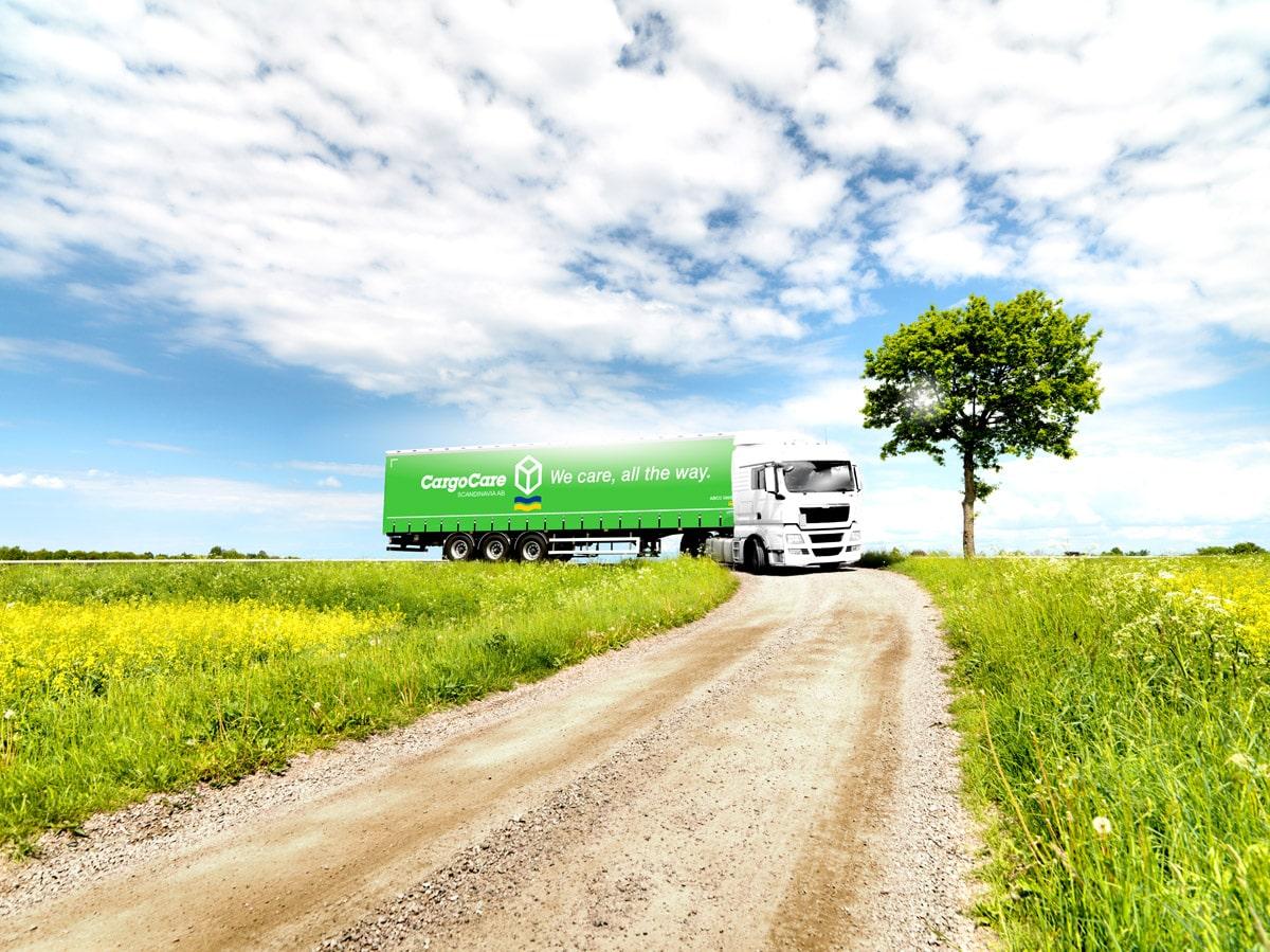 Lastbilstransport på avstånd